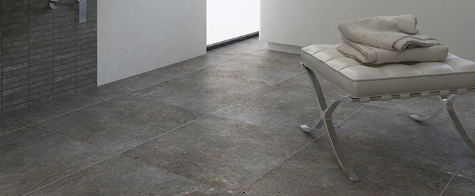 Java Stone Dark Grey Concrete Effect Floor Tile