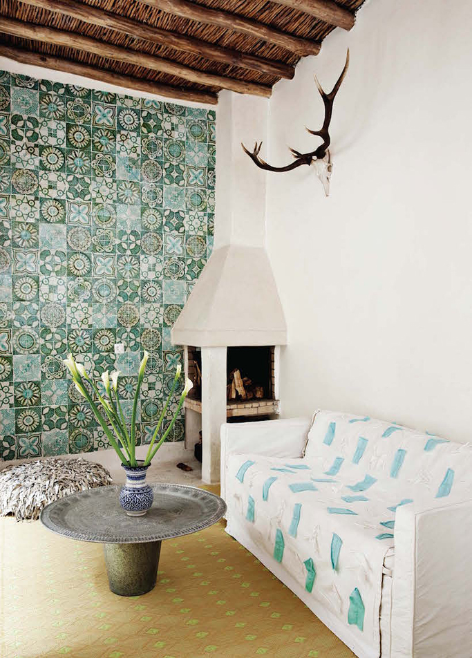 Moroccan Style Tiled Wall
