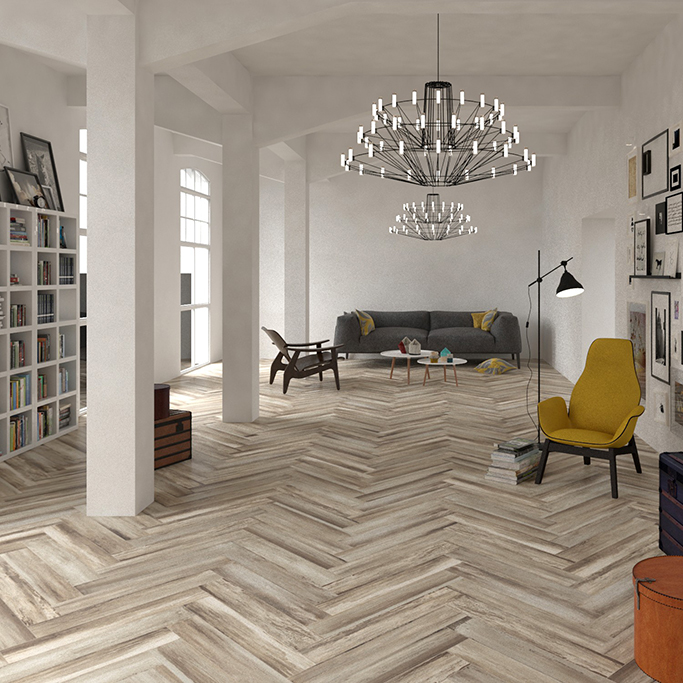 Paintwash Almond Wood Effect Wall and Floor Tile