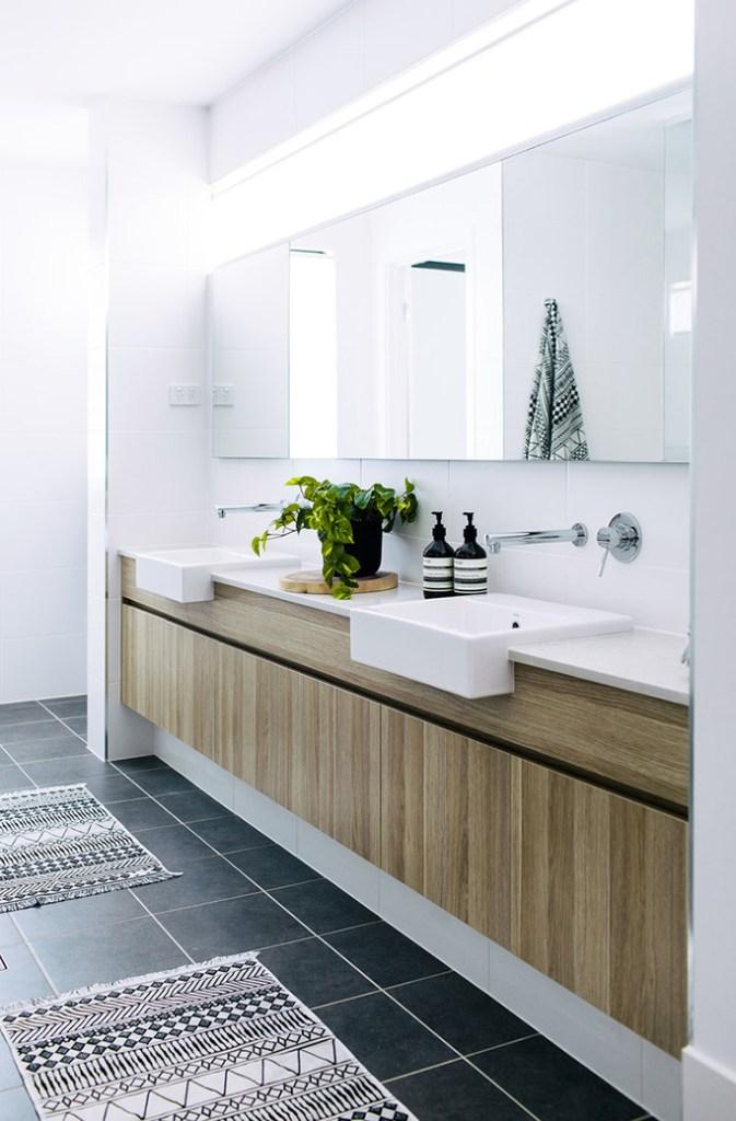 Recessed LED Lighting in Bathroom