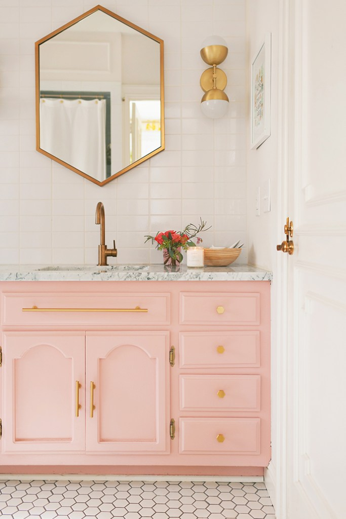 Wall Sconce in Bathroom