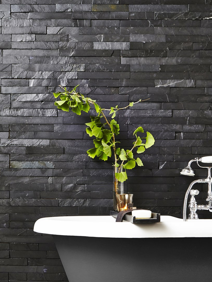 Black Slate Split Face Mosaic Tiles from Tile Mountain