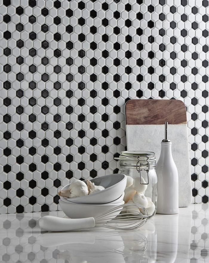 Hexagon Chequered Tiles from Tile Mountain