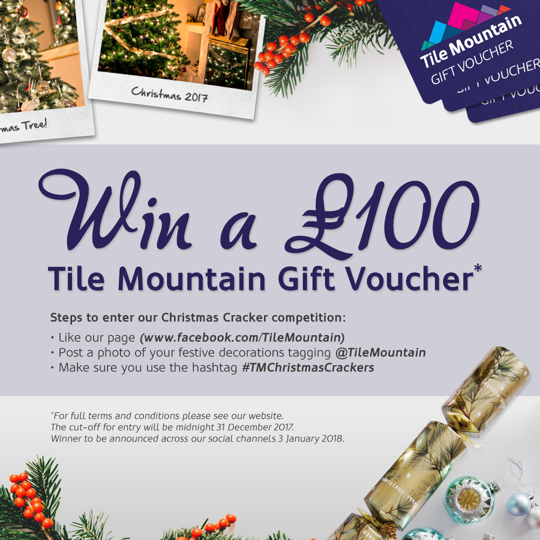 Christmas Crackers Competition Win A 100 Tile Mountain Gift Voucher Tile Mountain