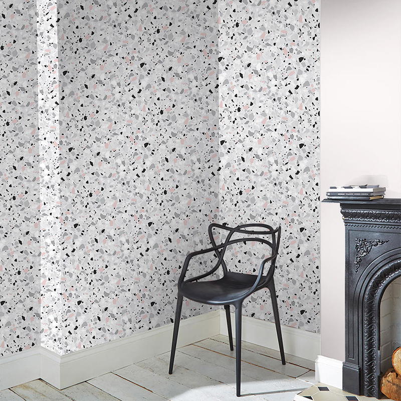 Graham and Brown Terrazzo Pink Wallpaper