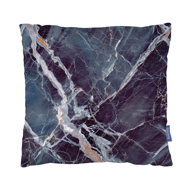 Blue Marble Cushion from Mint & May