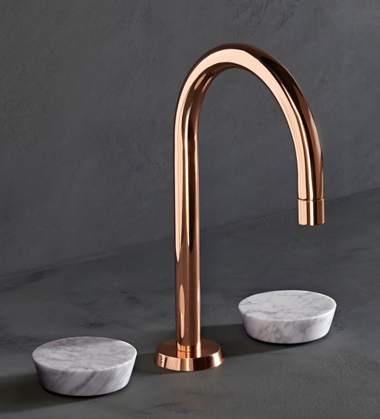 Zen tap with marble handles from The Watermark Collection