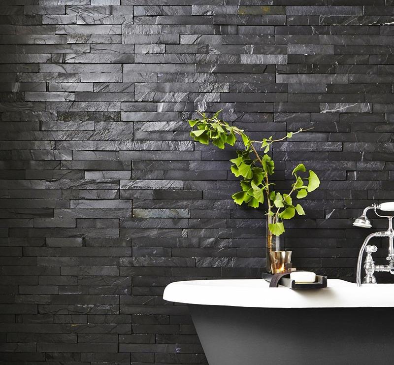 Black Slate Split Face Tiles from Tile Mountain
