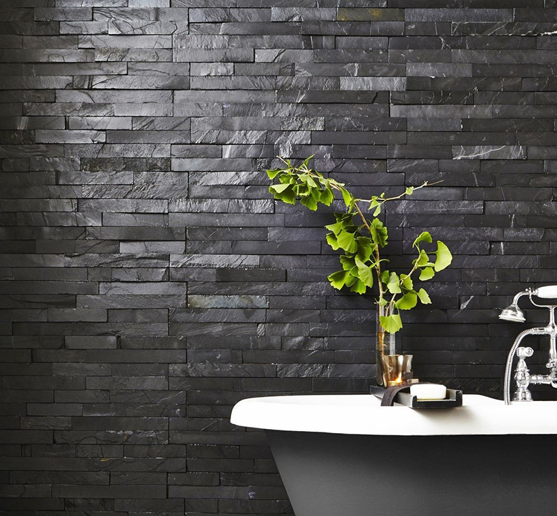 Black Slate Split Face Tiles from Tile Mountain