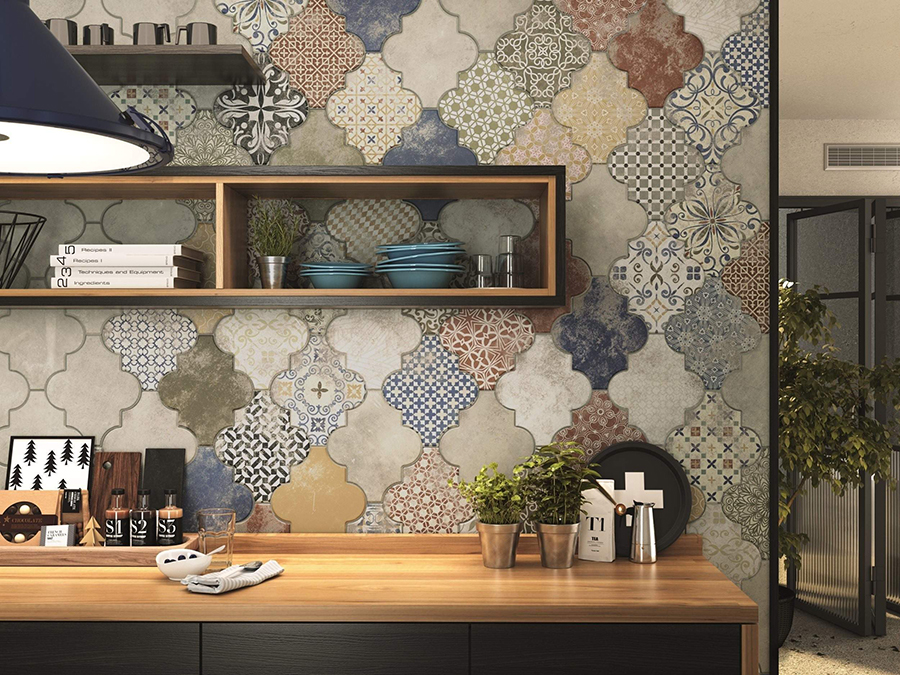 Riga Patchwork Wall and Floor Tiles | Tile Mountain
