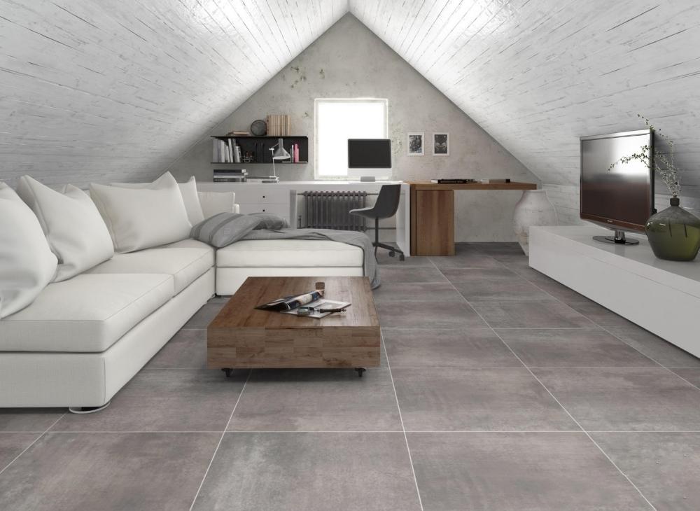 Florencia Grey Porcelain Floor | Tile Mountain