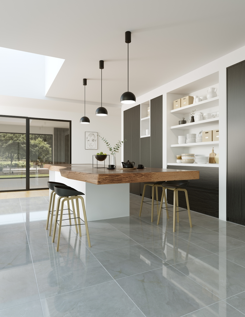 Muse Grey Polished Floor | Tile Mountain