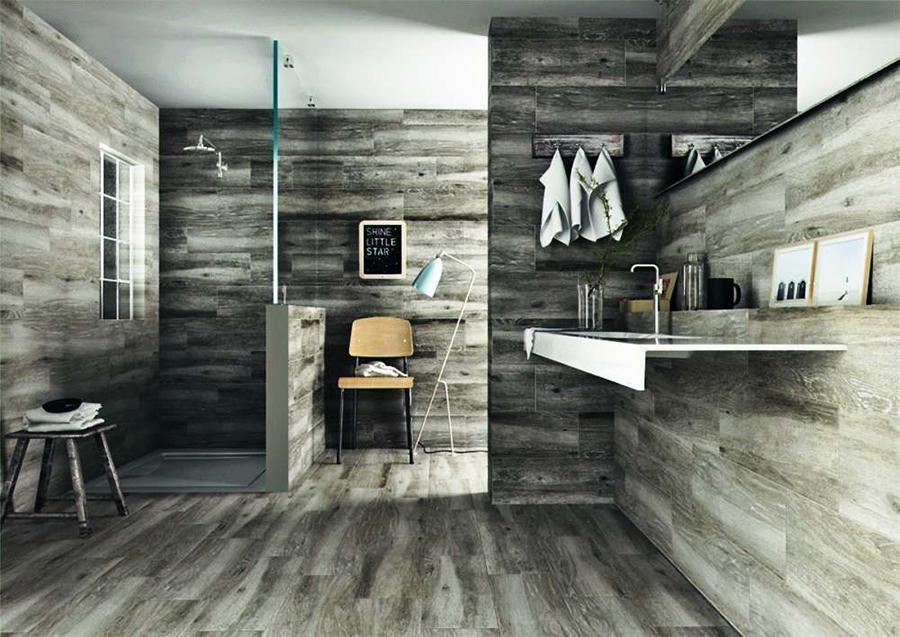 Sandalo Grey Natural Wood Effect Tiles | Tile Mountain