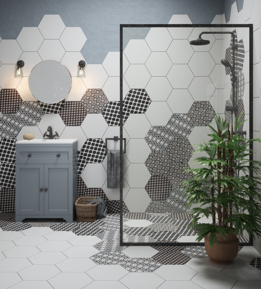 Grazia Hexagon Decor | Tile Mountain