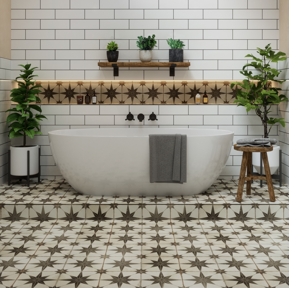 Metropolis Star Black | Tile Mountain