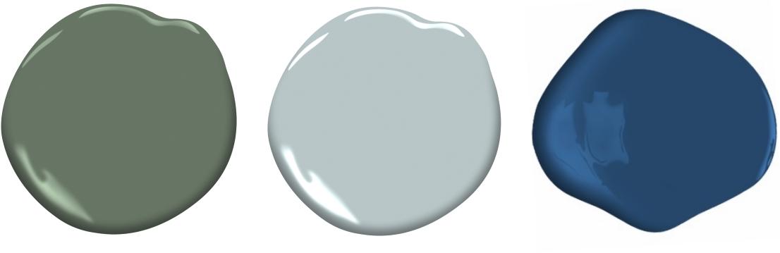 Cushing Green | Smoke | Downpour Blue - Benjamin Moor Paint
