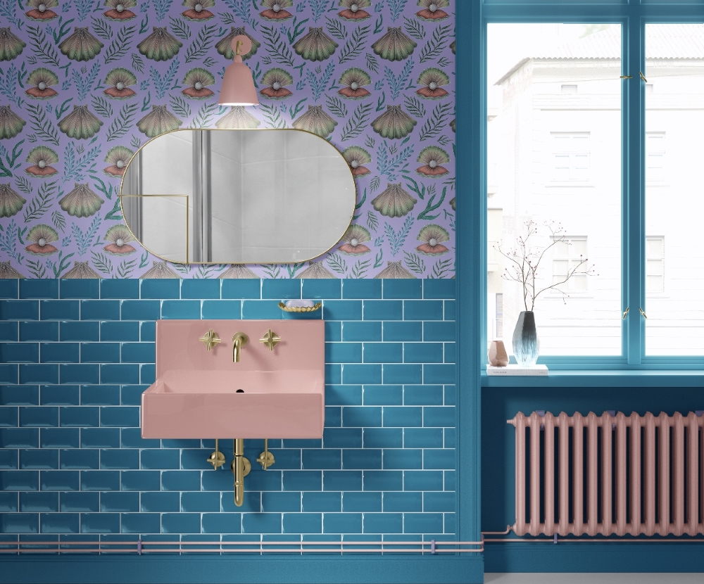Shell With Pearl Pattern wallpaper from the Charlton Island Range | Catherine Rowe Design