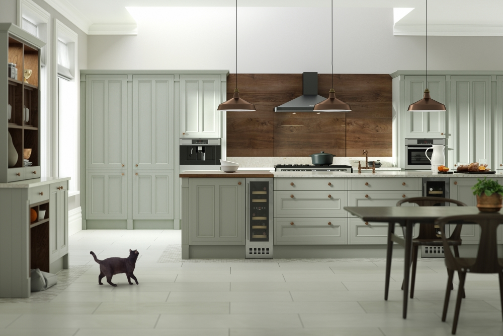 Country Drawing Room Green | Wren Kitchens