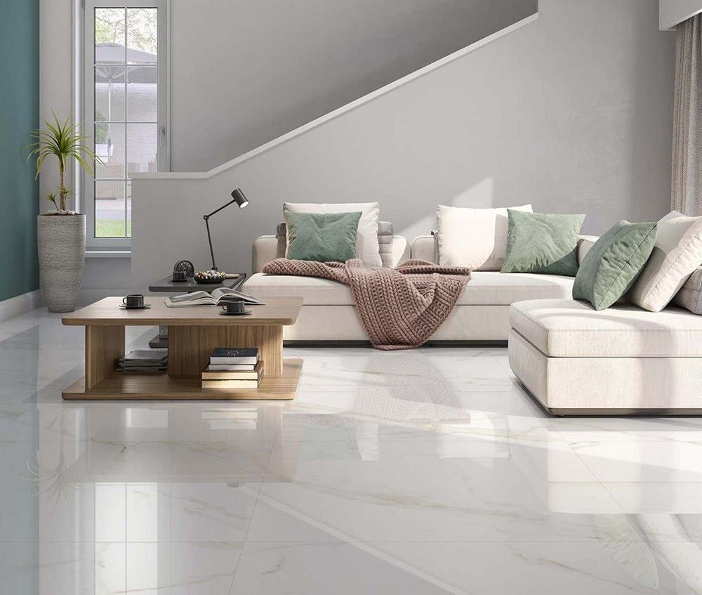 Carrara Gold Gloss Marble Effect | Tile Mountain