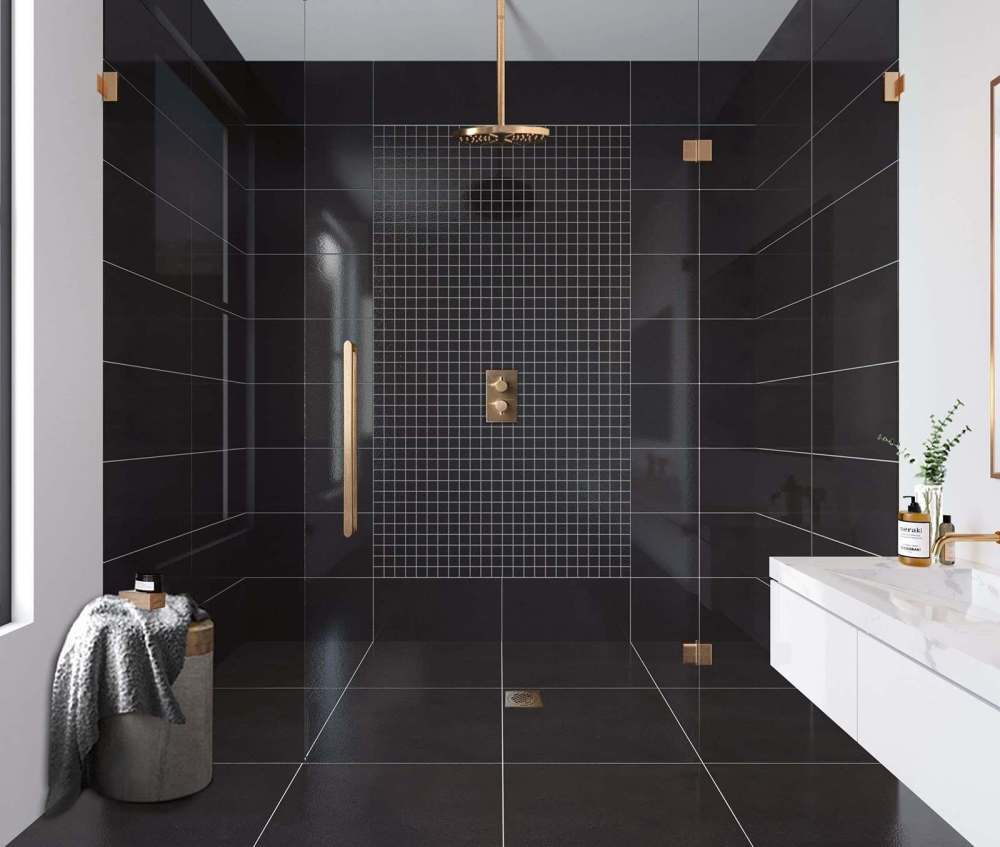 Strauss Black Porcelain Wall And Floor | Tile Mountain