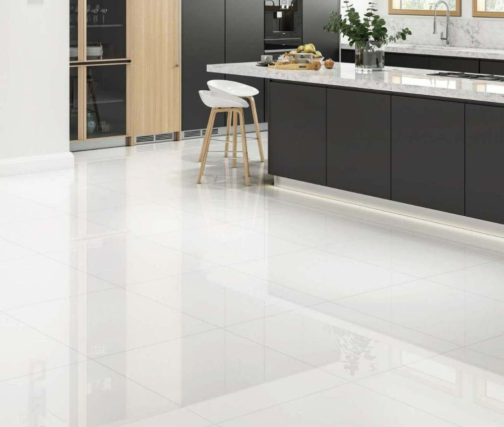 Blanco Rectified Gloss Porcelain Floor   Tile Mountain