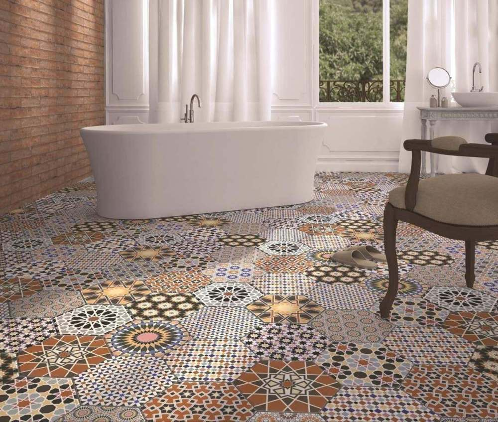 Andalucia Hexagon Patterned | Tile Mountain