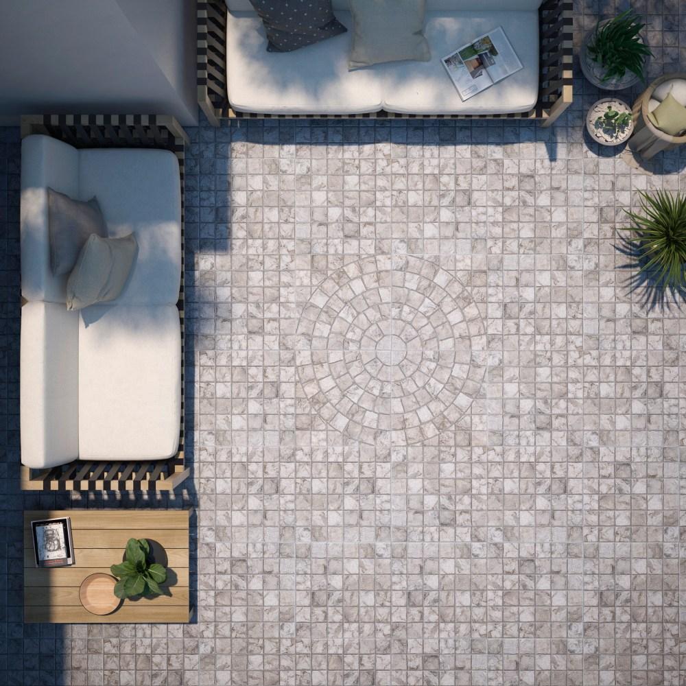 Eire Gris Cobbles Decor Outdoor Slab | Tile Mountain