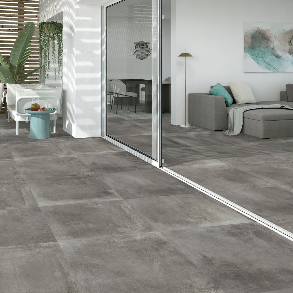 Maddox Dark Grey Indoor/Out Porcelain | Tile Mountain