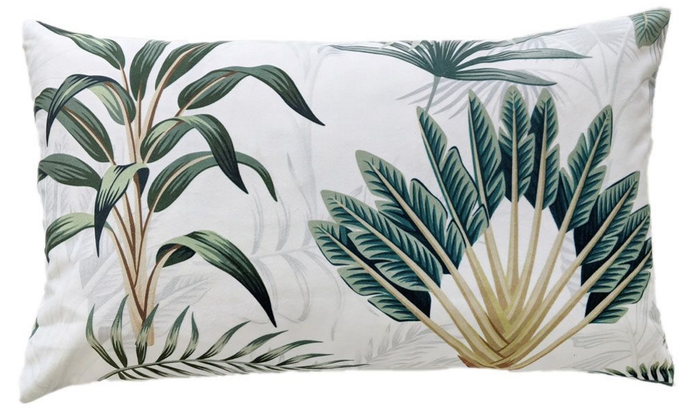 Tranquil Palms Tropical Boudoir Cushion | The French Bedroom Company