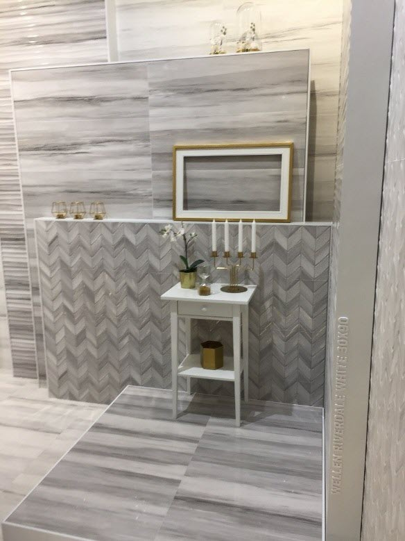 how to combine tile patterns and styles