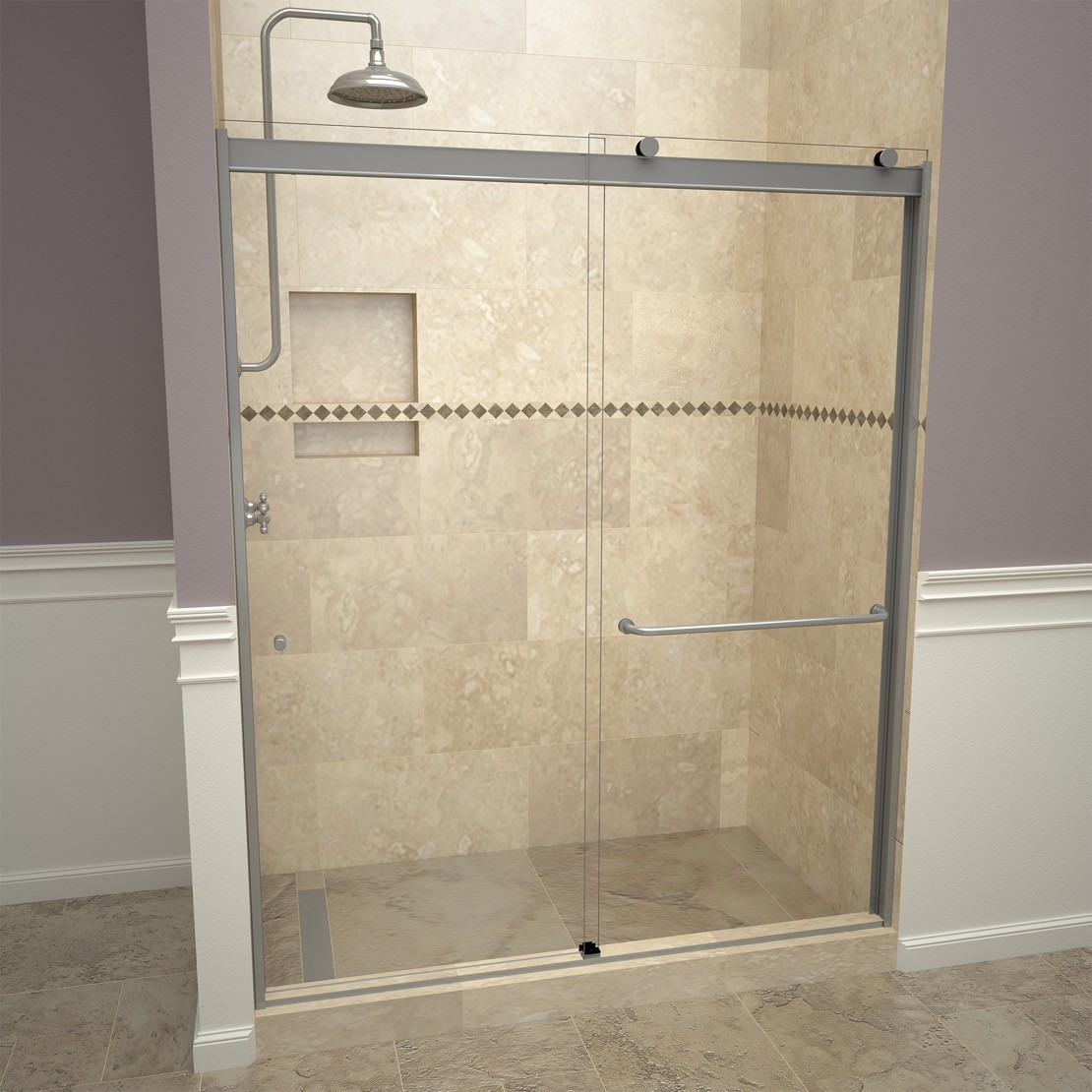 Base N Door Shower Kits Include Pan Door Niche And
