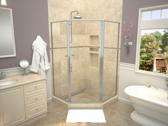 recessed shower niches built in