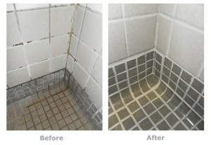 Commercial Tile and Grout Cleaning - before and after image