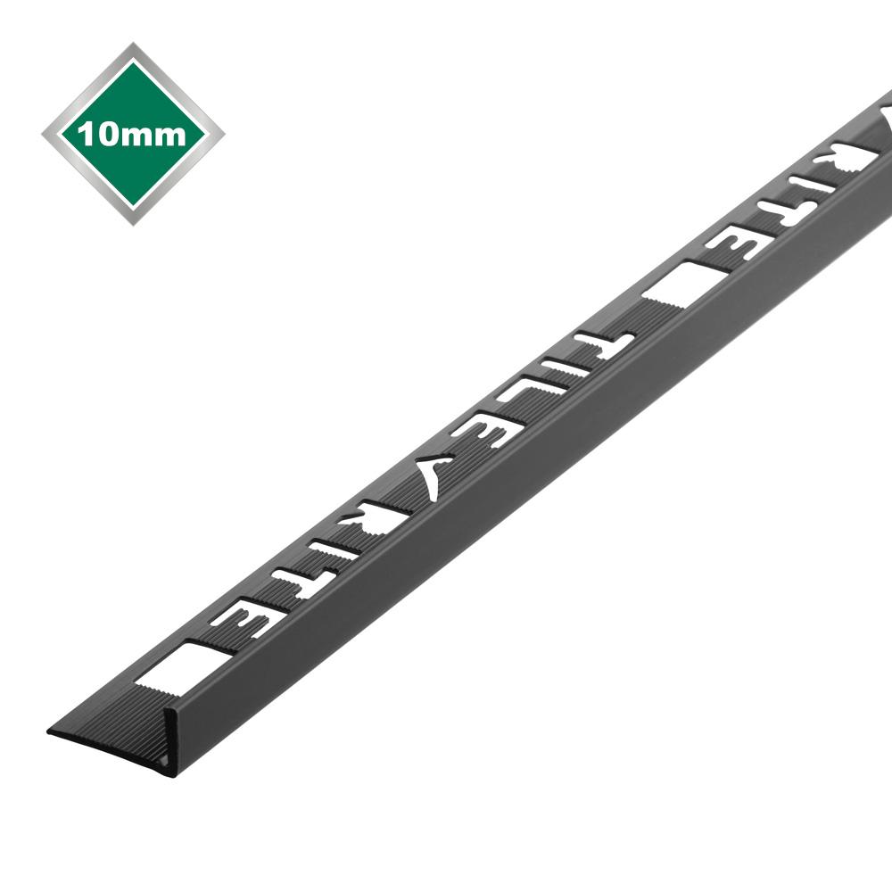 10mm black l shape pvc tile trim
