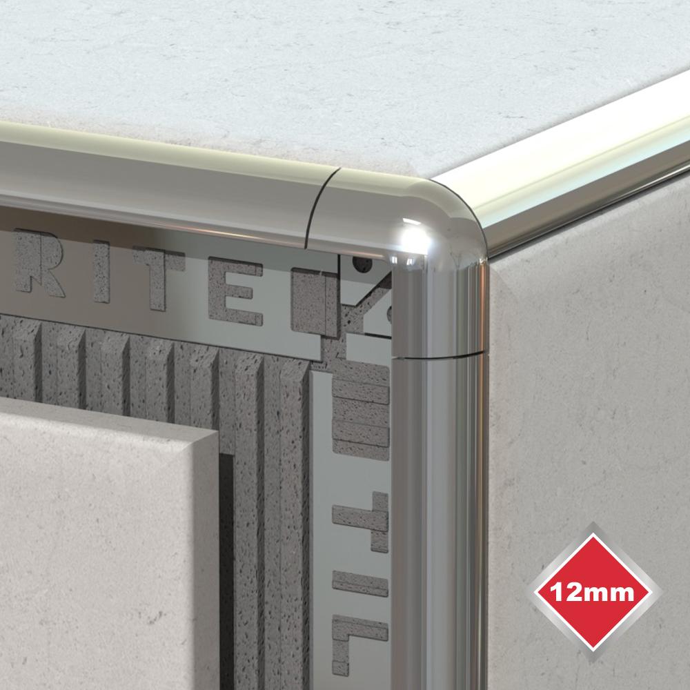12mm silver trim corners