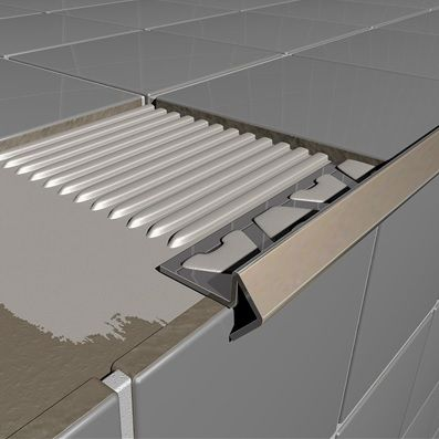 stainless steel step profile tile trim 2 5m