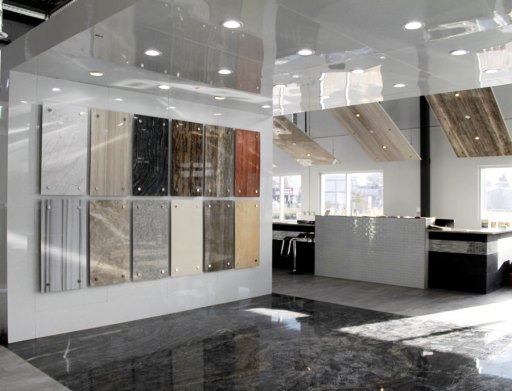 Bolder Stone Panels display in Edmonton