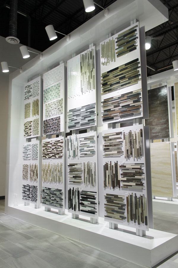 Mosaic Rack display in Edmonton Showroom