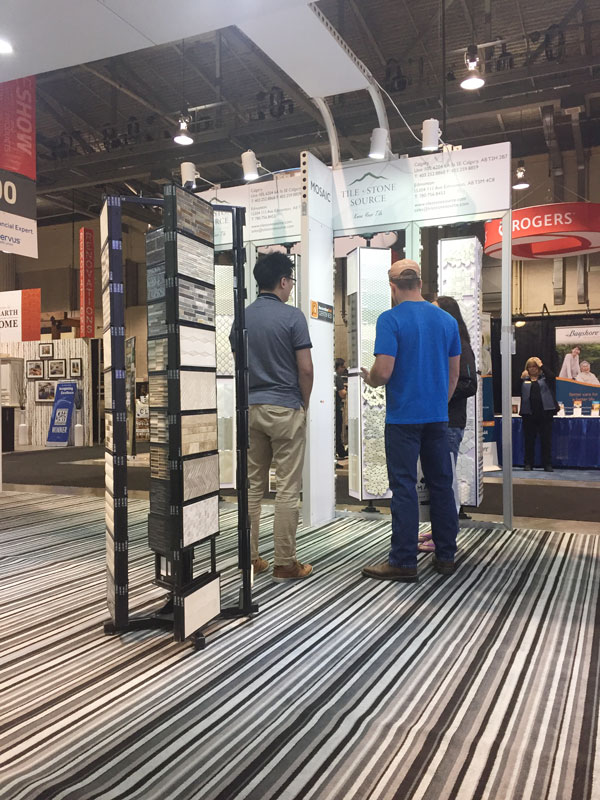 Tile and Stone Source in action at the Calgary Fall home show