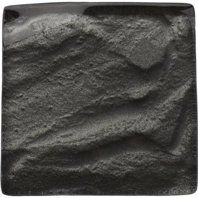 Black glass textured tile