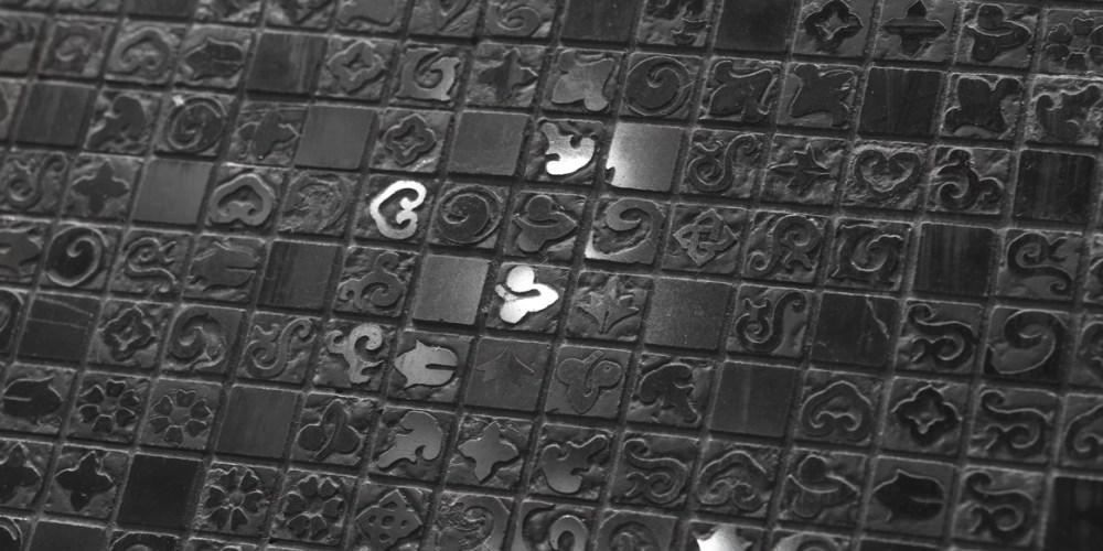 hieroglyphic egypt mosaic