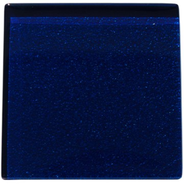Dark blue metallic glass tile