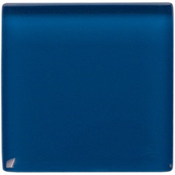 Deep sea blue glass tile