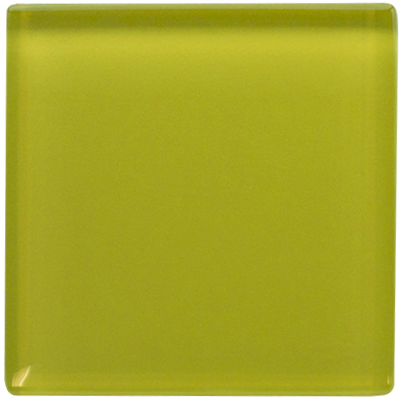 Yellow Daffodil Glass Tile