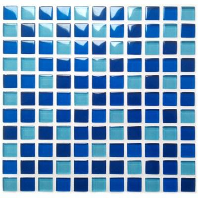 Mixed Blues Mosaic-0