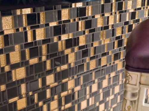 Black and Gold Mosaic