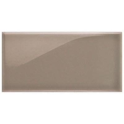 Dark brown brick ceramic kitchen tile