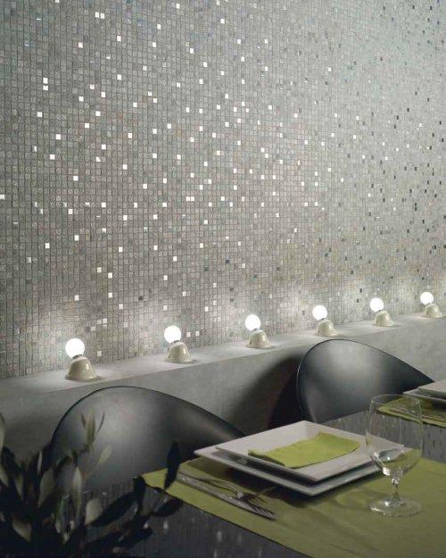 Grey mosaic wall