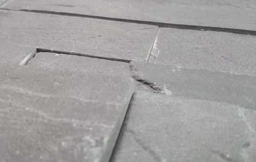 Brick effect slate mosaic