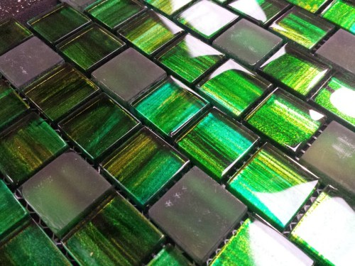 solid Green glass mosaic